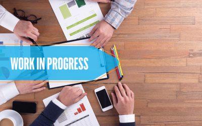 59055135 - business team working office work in progress desk concept